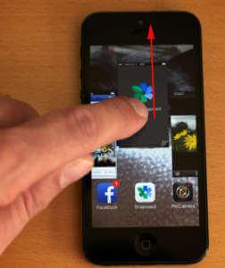 iPhone Apps beenden