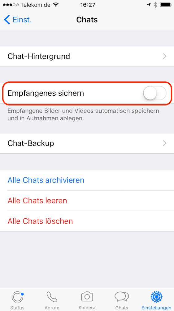 Iphone Whatsapp Bilder Speichern