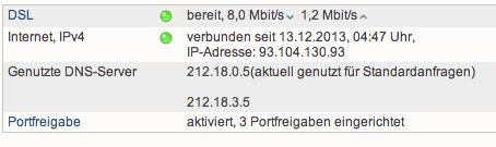 Online-Monitor der Fritzbox