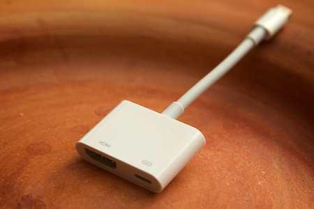 Der HDMI-Adapter von Apple
