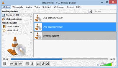 VLC Konvertierung läuft