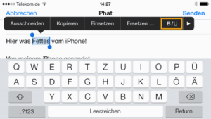 Text formatieren mit dem iPhone