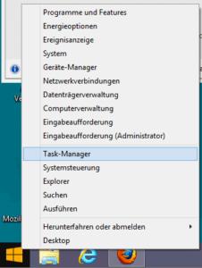 Task-Manager aus dem Startmenü heraus starten