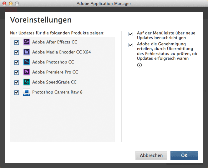 Der Adobe Application Manager