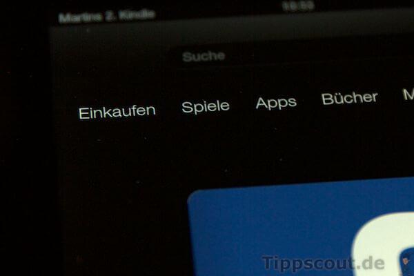 Amazon Kindle Fire Schaltfläche Apps