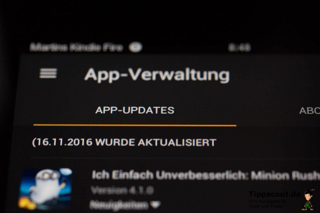 Hier finden Sie die aktualisierten Apps mit zusätzlichen Informationen wie dem Aktualisierungsdatum.