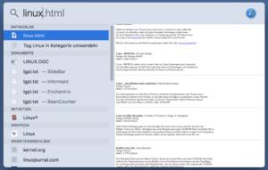 Spotlight: Gefundene Datei im Finder anzeigen