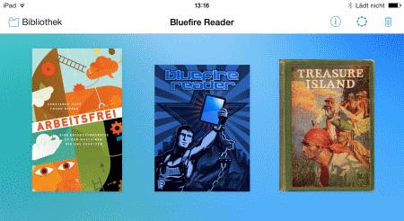 Bluefire Reader Buchanzeige