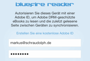 Bluefire Reader Login