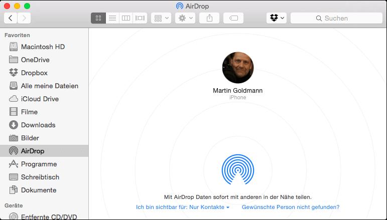 iphone airdrop fotos auf andere ger te kopieren mit iphone ipad und mac. Black Bedroom Furniture Sets. Home Design Ideas