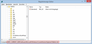 Regedit Zweig FileExts