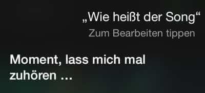 Siri hört Musik