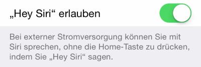 Hey Siri aktivieren