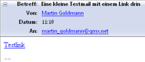 HTML-Link in E-Mail