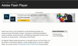 Flash-Homepage nach Klicken