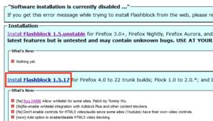 Website Flashblock