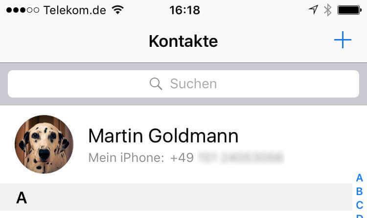 meine eigene telefonnummer