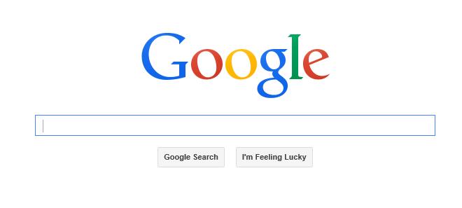 Google.com geöffnet