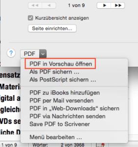 PDF in Vorschau öffnen