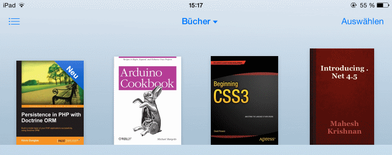 eBook ist in iBooks geladen