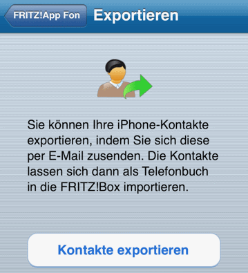 Kontakte exportieren iPhone