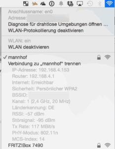 Anzeige der Transferrate in Mac OS X