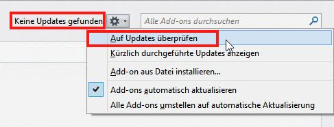 Firefox manueller Update