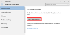 Windows Updates prüfen