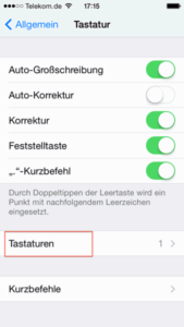 iPhone Emoji: Allgemein - Tastatur - Tastaturen
