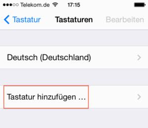 iPhone Emoji: Tastatur hinzuf?gen