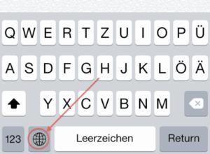 iPhone Emoji: Tastatur umschalten