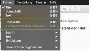 Das hat Format: Mit zwei Klicks verwandeln Sie Text in eine Überschrift oder einen Titel.