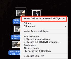 Dateien aufräumen in Ordnern über das Kontextmenü
