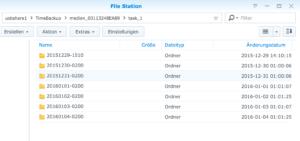 Die Backup-Dateien über die File-Station öffnen