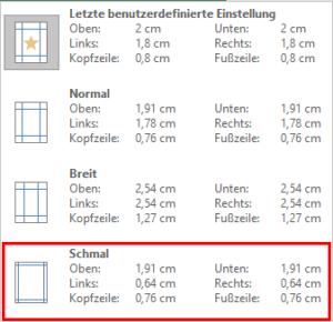 Excel - schmaler Seitenrand