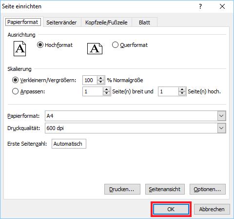 Excel: Druckeinstellungen auf alle Arbeitsblätter übertragen ...
