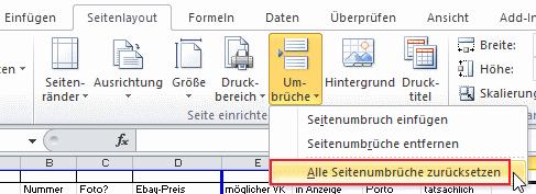 Excel blauer hintergrund
