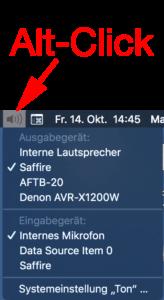 Mit einem kleinen Trick können Sie auf dem Mac ganz schnell Tonquellen umschalten.