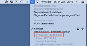 WLAN-Adresse auf dem Mac