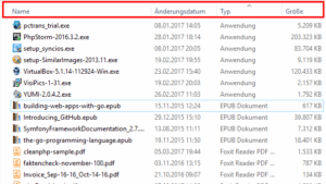 Die Detailansicht im Windows-Explorer