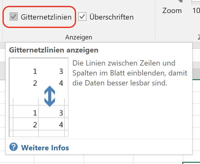 Excel: Gitternetzlinien ausblenden   Tippscout.de