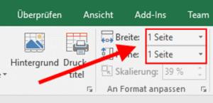 Excel - auf eine Seite drucken