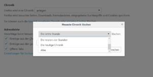 Firefox Daten löschen in der Chronik