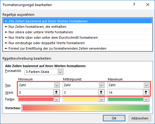 Terminplanung mit Excel: Termine färben, die bald anstehen ...