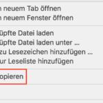 Safari Link kopieren