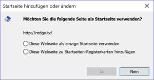 Internet Explorer Startseite ändern