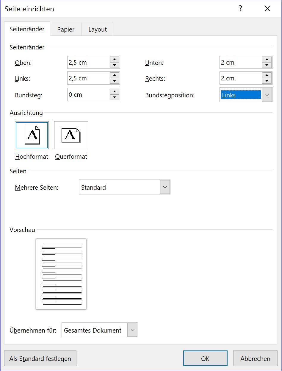 Word Seitenränder Einstellen Und Spaltenbreite ändern Tippscoutde