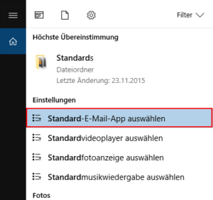 Suche nach Standard