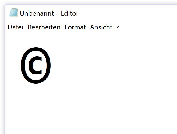Windows Copyright Zeichen Mit Tastenkürzel Eingeben Tippscoutde