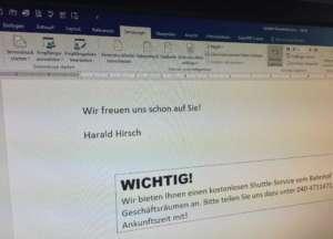 Word - Textbaustein im Serienbrief